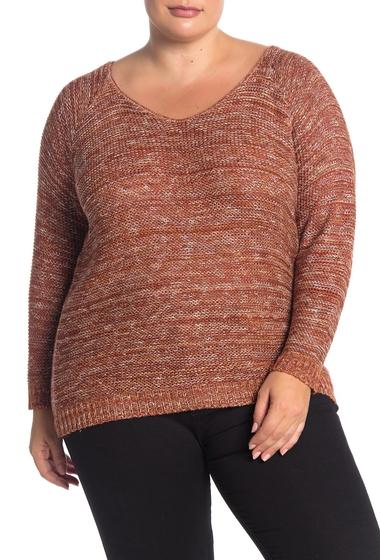Imbracaminte Femei SUSINA Marled Knit Sweater Plus Size RUST CINNABAR MARL
