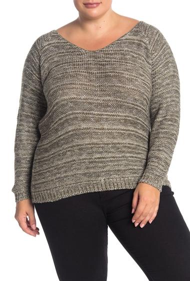 Imbracaminte Femei SUSINA Marled Knit Sweater Plus Size OLIVE MARL