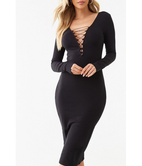 Imbracaminte Femei Forever21 Plunging Bodycon Dress BLACK