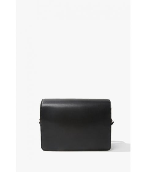 Genti Femei Forever21 Faux Leather Crossbody BLACK