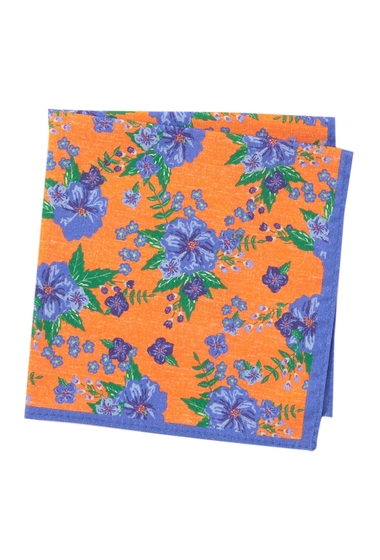 Accesorii Barbati 14th Union Ely Floral Pocket Square ORANGE
