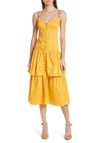 Imbracaminte Femei See by Chloe See by Chlo Tiered Bustier Dress CITRUS YELLOW