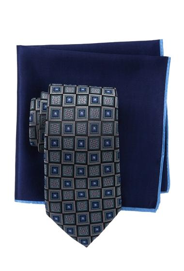 Accesorii Barbati Ted Baker London Tonal Square Silk Tie Pocket Square Set GRAY