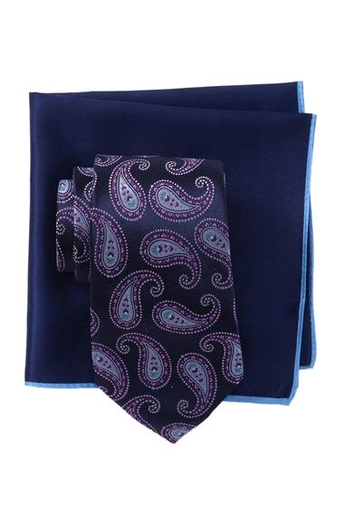 Accesorii Barbati Ted Baker London Silk Tonal Pine Tie Pocket Square Set PURPLE