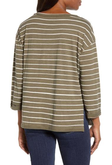 Imbracaminte Femei Caslon Relaxed Stripe Tee Regular Petite OLIVE T- IVORY C KEALY STP