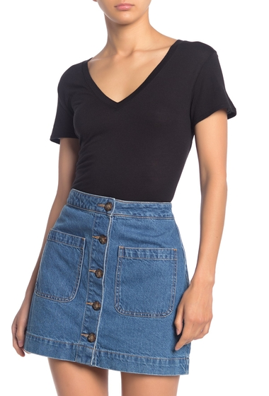Imbracaminte Femei Splendid V-Neck T-Shirt BLACK