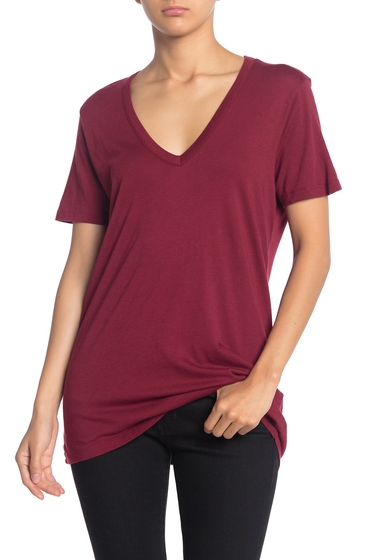 Imbracaminte Femei Splendid Slim V-Neck T-Shirt MAROON