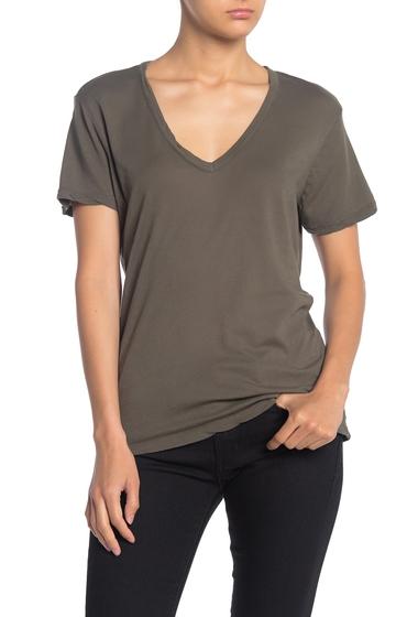 Imbracaminte Femei Splendid Slim V-Neck T-Shirt MILITARY OLIVE