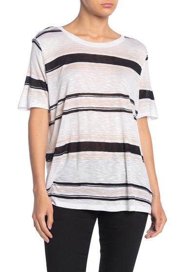 Imbracaminte Femei Splendid Striped Crew Neck T-Shirt BLACK