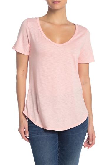 Imbracaminte Femei Socialite Short Sleeve Back Tie T-Shirt BRIGHT PEACH