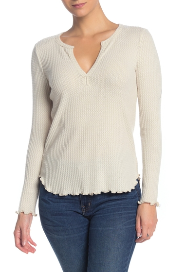 Imbracaminte Femei Socialite Brushed Knit Long Sleeve Pullover OATMEAL