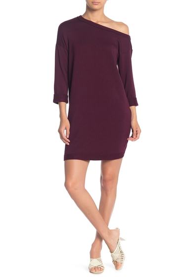 Imbracaminte Femei Splendid Boatneck Knit Dress DEEP PLUM