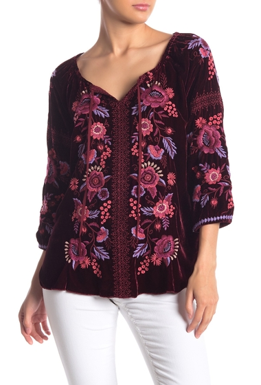 Imbracaminte Femei Johnny Was Marcella Velvet Boho Embroidered Blouse DAS