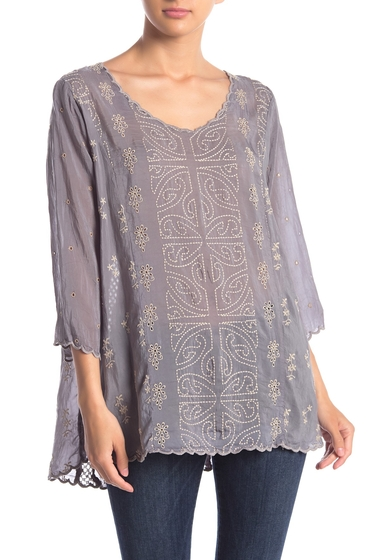 Imbracaminte Femei Johnny Was Ridden Embroidered Scallop Trim Blouse CLDB