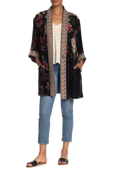 Imbracaminte Femei Johnny Was Vashti Embroidered Floral Velvet Kimono MULTI