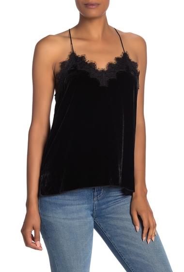 Imbracaminte Femei Johnny Was Gia Eyelash Lace Velvet Camisole BLACK
