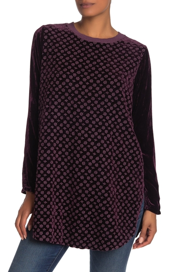 Imbracaminte Femei Johnny Was Larissa Embroidered Velvet Tunic LUPINE