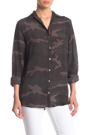 Imbracaminte Femei Johnny Was Camo Embroidered Velvet Back Silk Shirt FRC