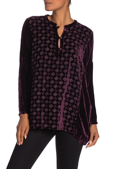 Imbracaminte Femei Johnny Was Wera Embroidered Velvet Boxy Top LUPINE