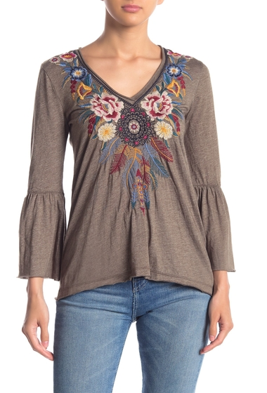 Imbracaminte Femei Johnny Was Darielle Embroidered Bell Sleeve Top VAGN