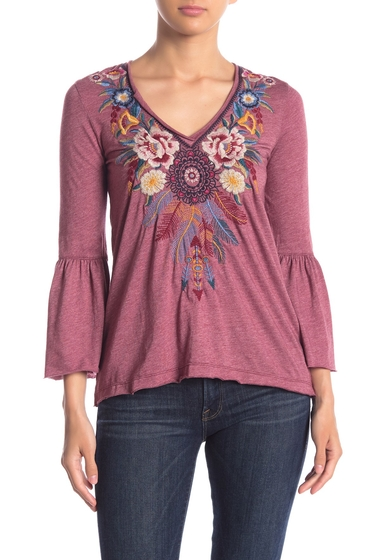 Imbracaminte Femei Johnny Was Darielle Embroidered Bell Sleeve Top BKB