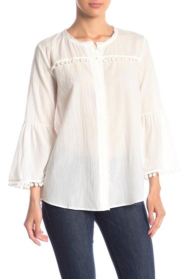 Imbracaminte Femei Johnny Was Pompom Bell Sleeve Shirt WHT