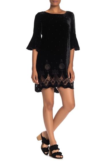Imbracaminte Femei Johnny Was Roxanne Embroidered Velvet Crochet Shift Dress BLACK