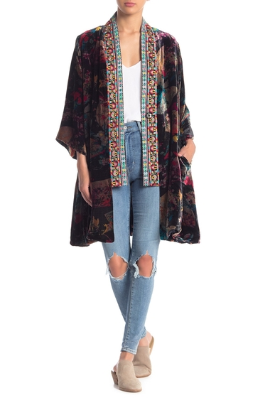 Imbracaminte Femei Johnny Was Fusai Velvet Embroidered Trim Kimono MTI