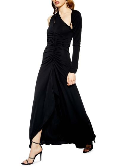 Imbracaminte Femei TOPSHOP One-Shoulder Maxi Dress BLACK