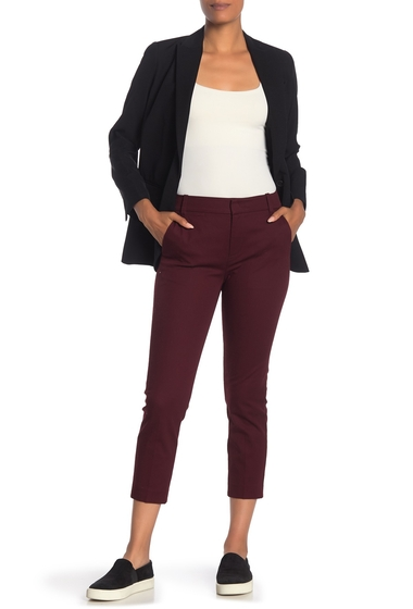 Imbracaminte Femei Vince Coin Pocket Cropped Chino BLACK CHERRY