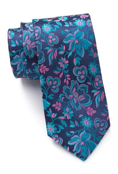 Accesorii Barbati Ted Baker London Contrast Flower Silk Tie AQUA