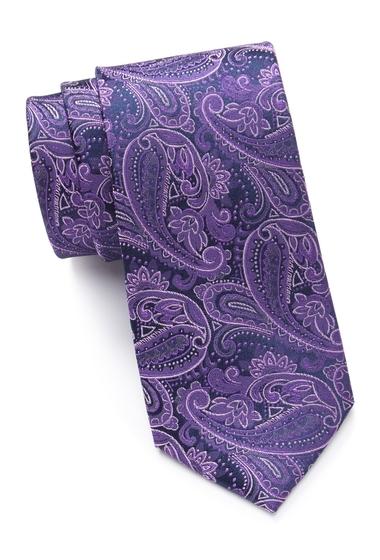 Accesorii Barbati Ted Baker London Tonal Paisley Silk Tie PURPLE
