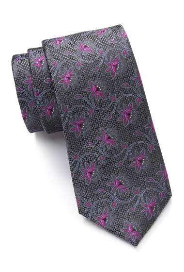 Accesorii Barbati Ted Baker London Flower Vines Silk Tie GREY