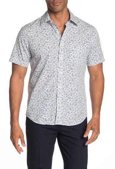 Imbracaminte Barbati Kennington Pinky Short Sleeve Slim Fit Shirt WHITE