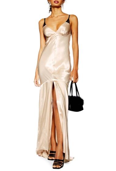 Imbracaminte Femei TOPSHOP Lace Satin Maxi Dress CREAM MULTI