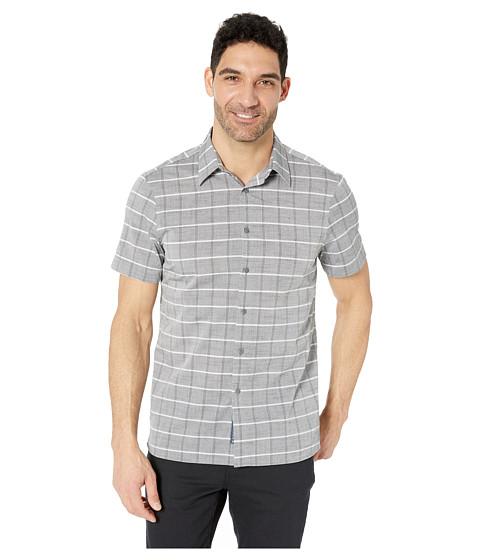Imbracaminte Barbati Perry Ellis Slub Check Shirt with Spill Resist Properties BlackGrey