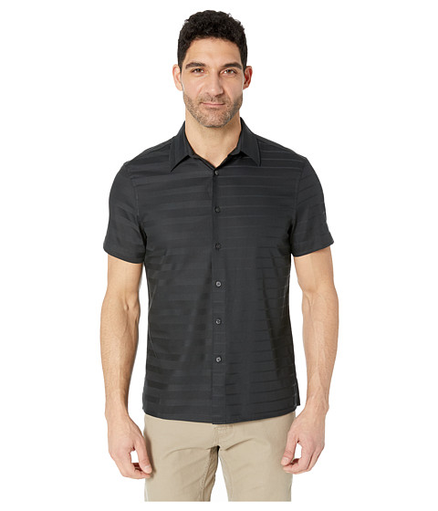 Imbracaminte Barbati Perry Ellis Sateen Engineered Stripe Shirt Black