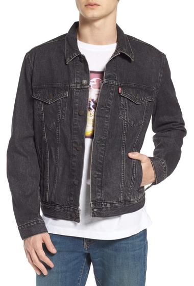Imbracaminte Barbati Levi's Trucker Denim Jacket BLACK FEGIN