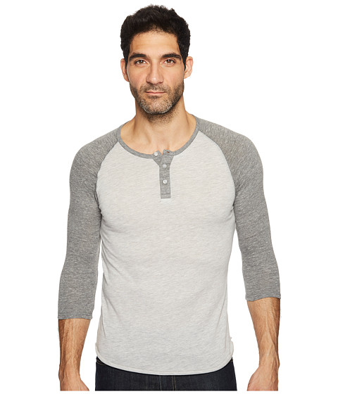 Imbracaminte Barbati Alternative Apparel 34 Raglan Henley Eco OatmealEco Grey
