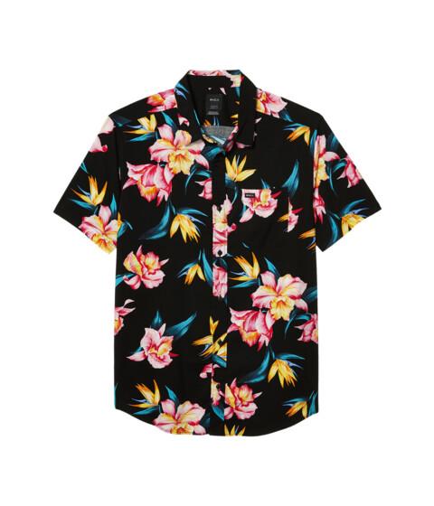 Imbracaminte Barbati RVCA Akora Floral Short Sleeve Black image0