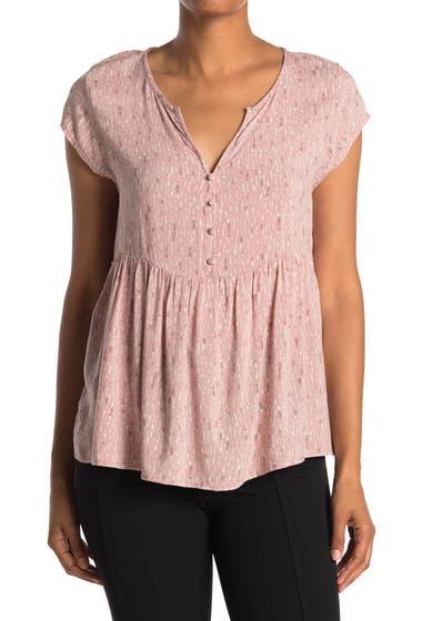 Imbracaminte Femei Caslon Short Sleeve Swing Blouse Pink Adobe Painted Texture image0
