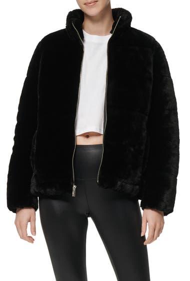 Imbracaminte Femei MARC NEW YORK PERFORMANCE Faux Fur Puffer Jacket Black image0