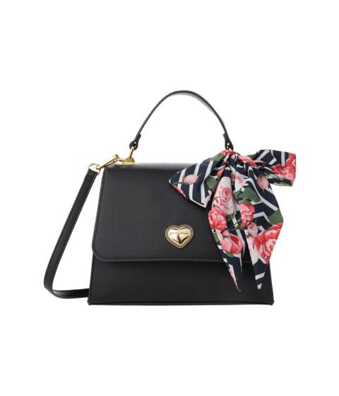 Genti Femei Betsey Johnson XO Mandy Croco Top-Handle Black Floral image0