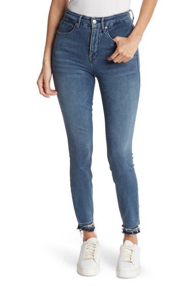 Imbracaminte Femei Good American Distressed Crop Skinny Jeans Blue392 image0