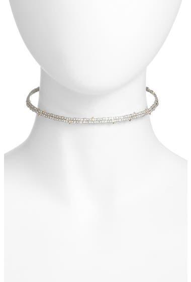 Bijuterii Femei Alexis Bittar 10K Gold Plated Encrusted Spike Choker Necklace Rhodium W 10k Gold image0