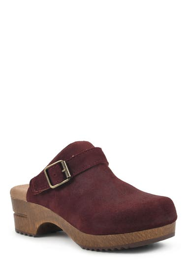 Incaltaminte Femei White Mountain Being Buckled Leather Clog VinoSuede image0