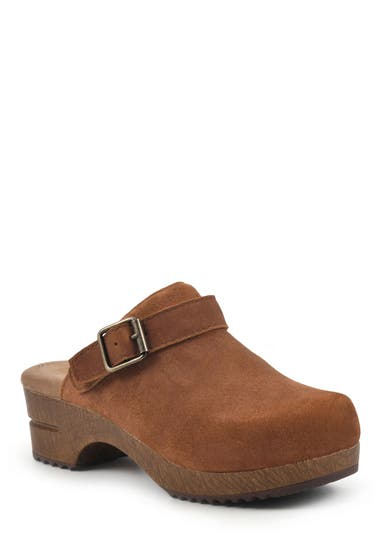 Incaltaminte Femei White Mountain Being Buckled Leather Clog RustSuede image0