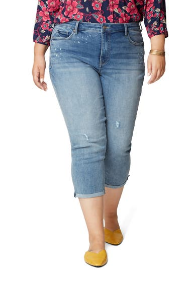 Imbracaminte Femei NYDJ Chloe Raw Hem Capri Jeans Sandspur image0