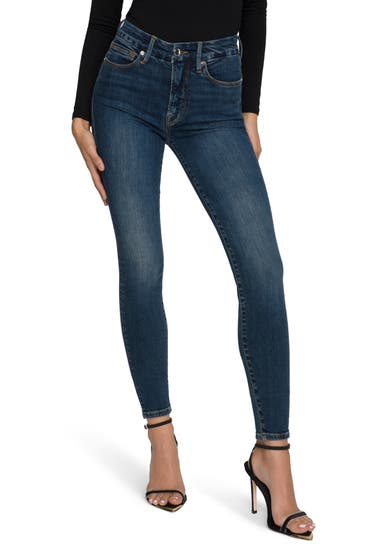Imbracaminte Femei Good American Good Legs Deep-V High Waist Ankle Skinny Jeans Blue609 image0