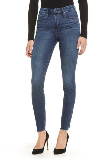Imbracaminte Femei Good American Good Legs Raw Hem Skinny Jeans Blue653 image0